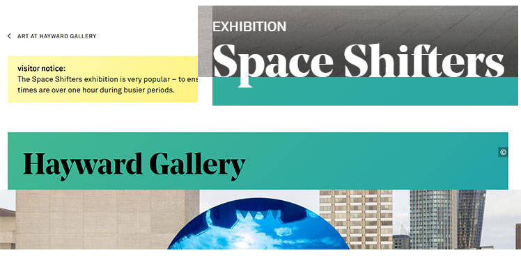 Space Shifters - Hayward Gallery